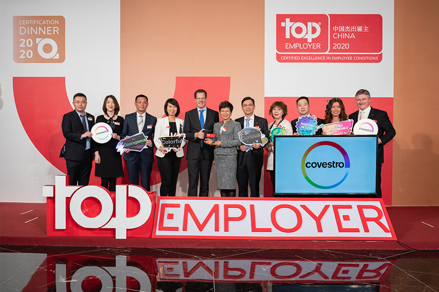 Covestro China named a Country Certified Top Employer