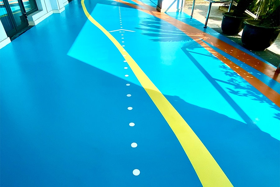 Efficient polyurethane floor coating