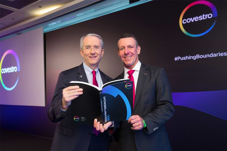 Covestro CEO Patrick Thomas and CFO and labor director Frank H. Lutz